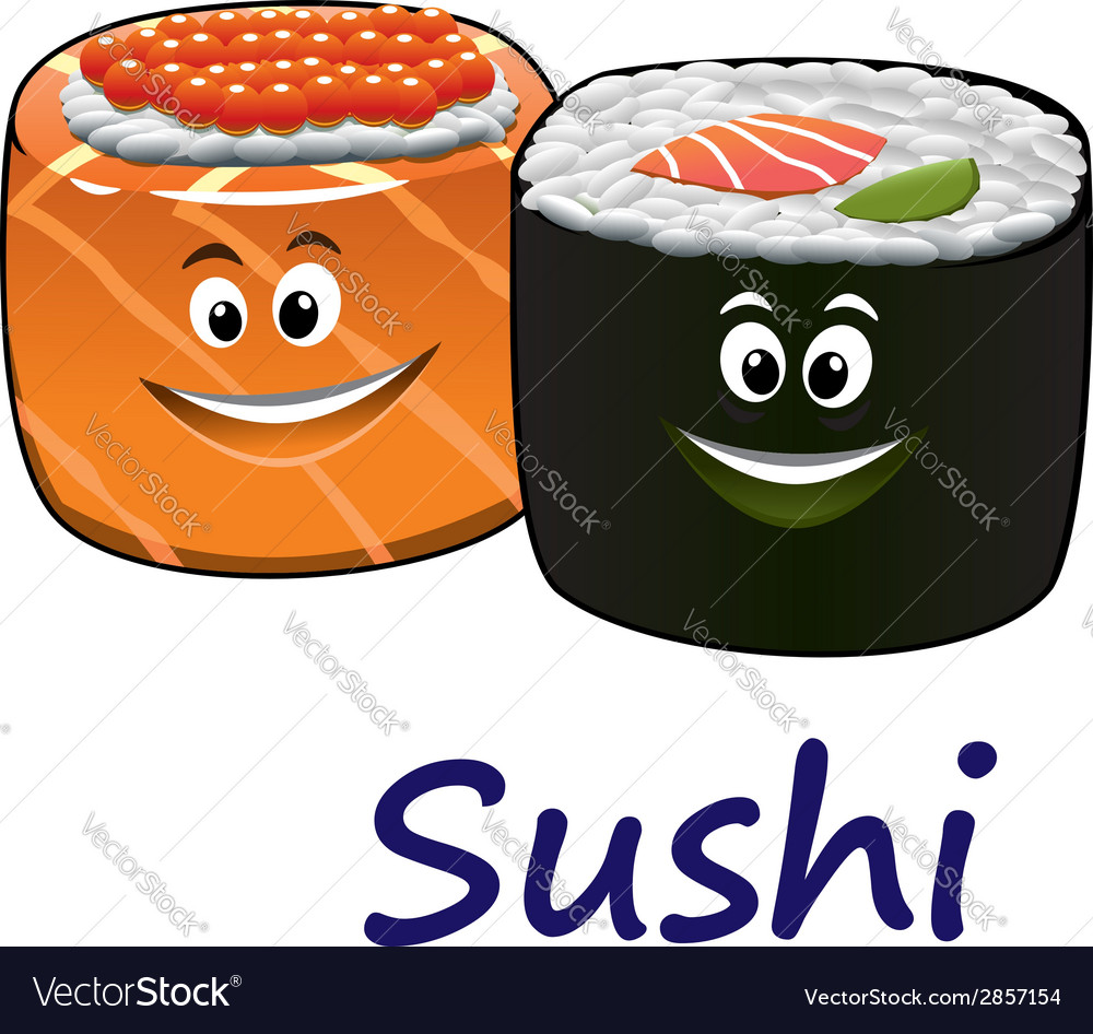 Japanese seafood and sushi vector | Price: 1 Credit (USD $1)