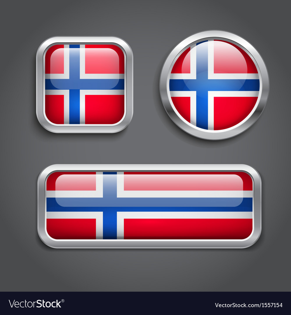 Norway flag glass buttons vector | Price: 1 Credit (USD $1)