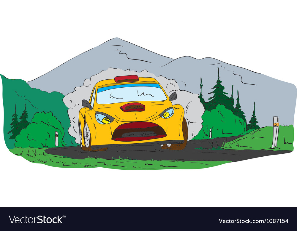 Rally car vector | Price: 1 Credit (USD $1)