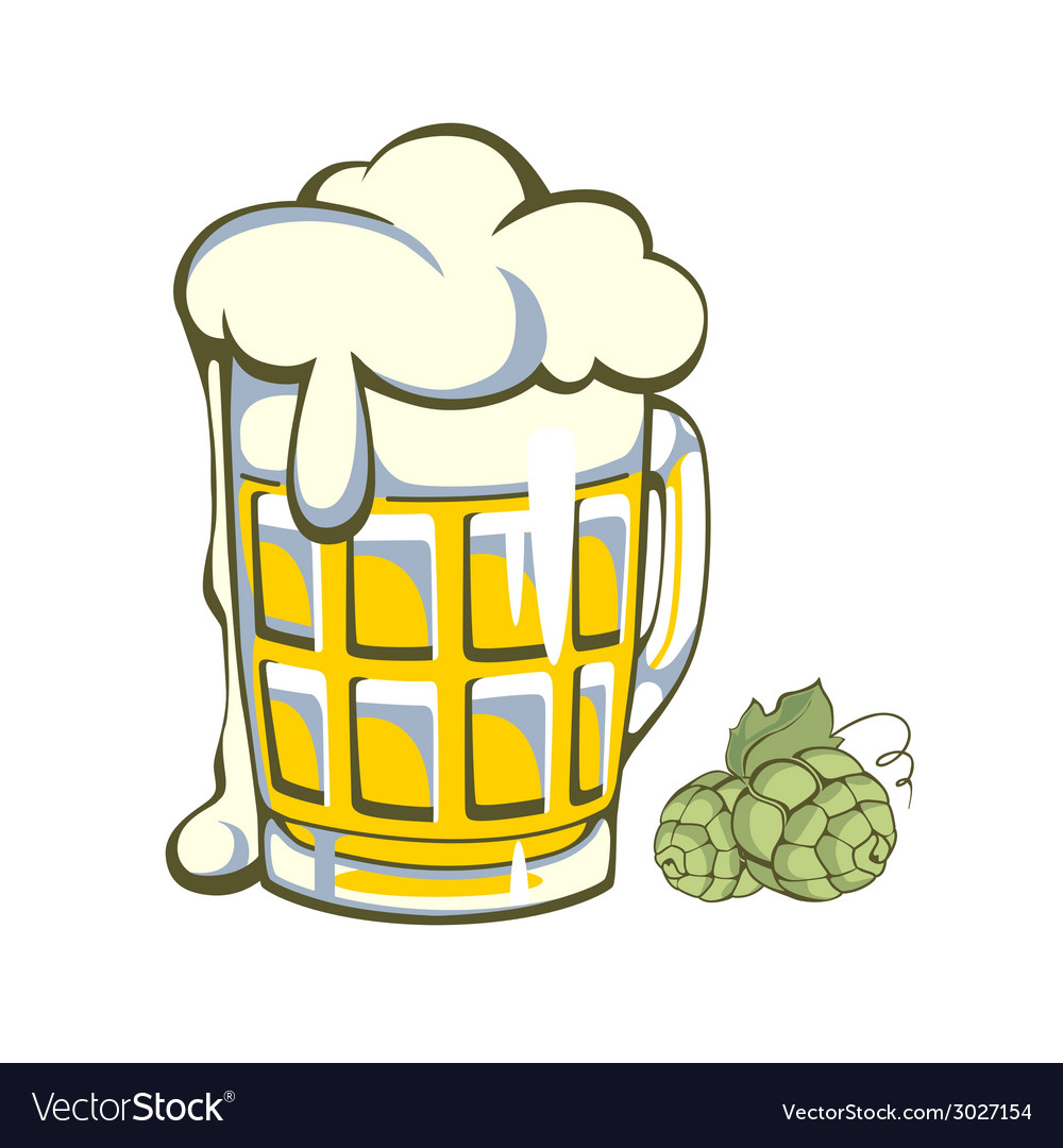 Retro styled label of beer glass vector | Price: 1 Credit (USD $1)