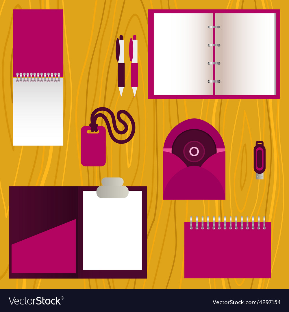 Set of mock-up corporate identity objects vector | Price: 1 Credit (USD $1)