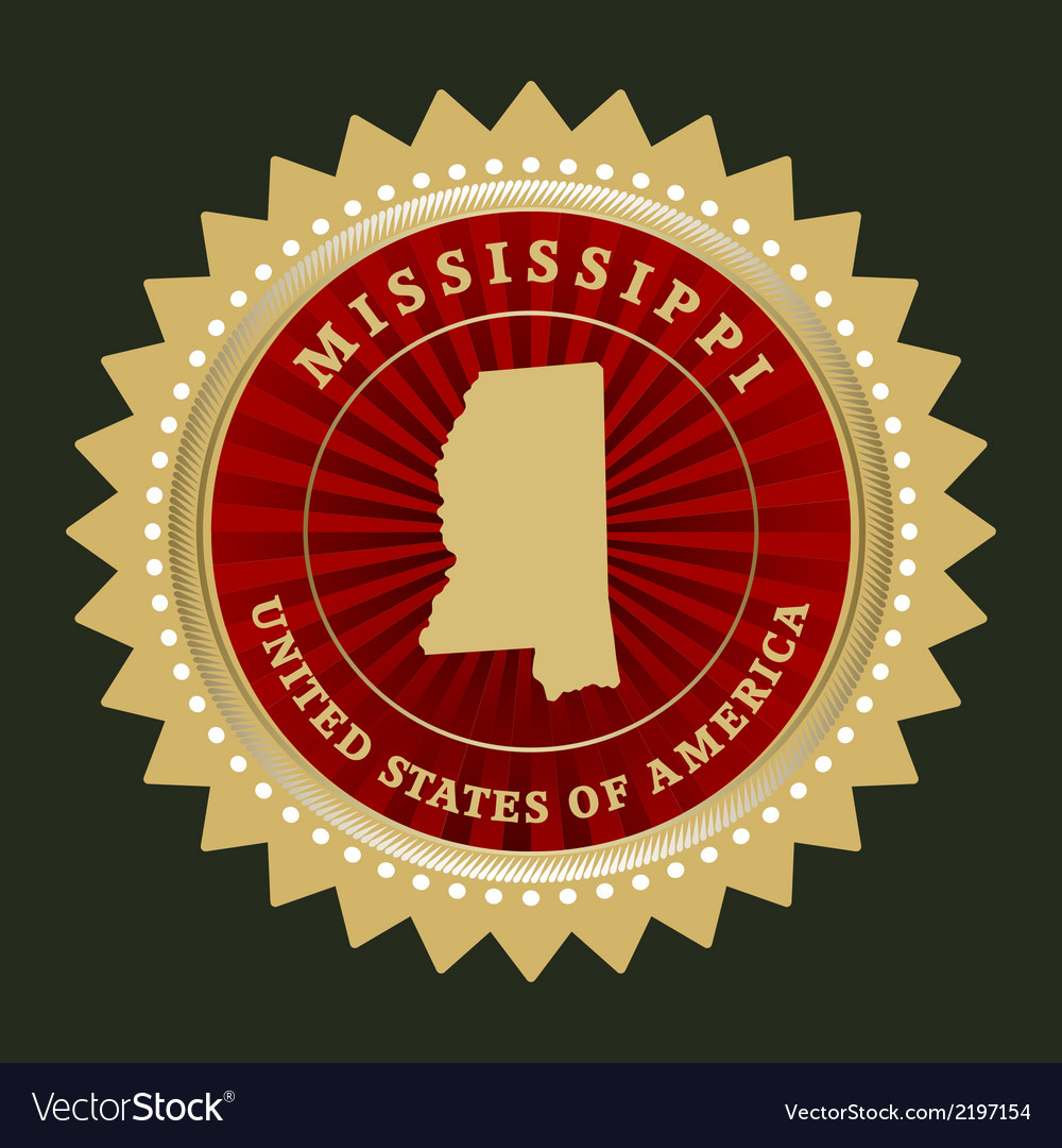 Star label mississippi vector | Price: 1 Credit (USD $1)