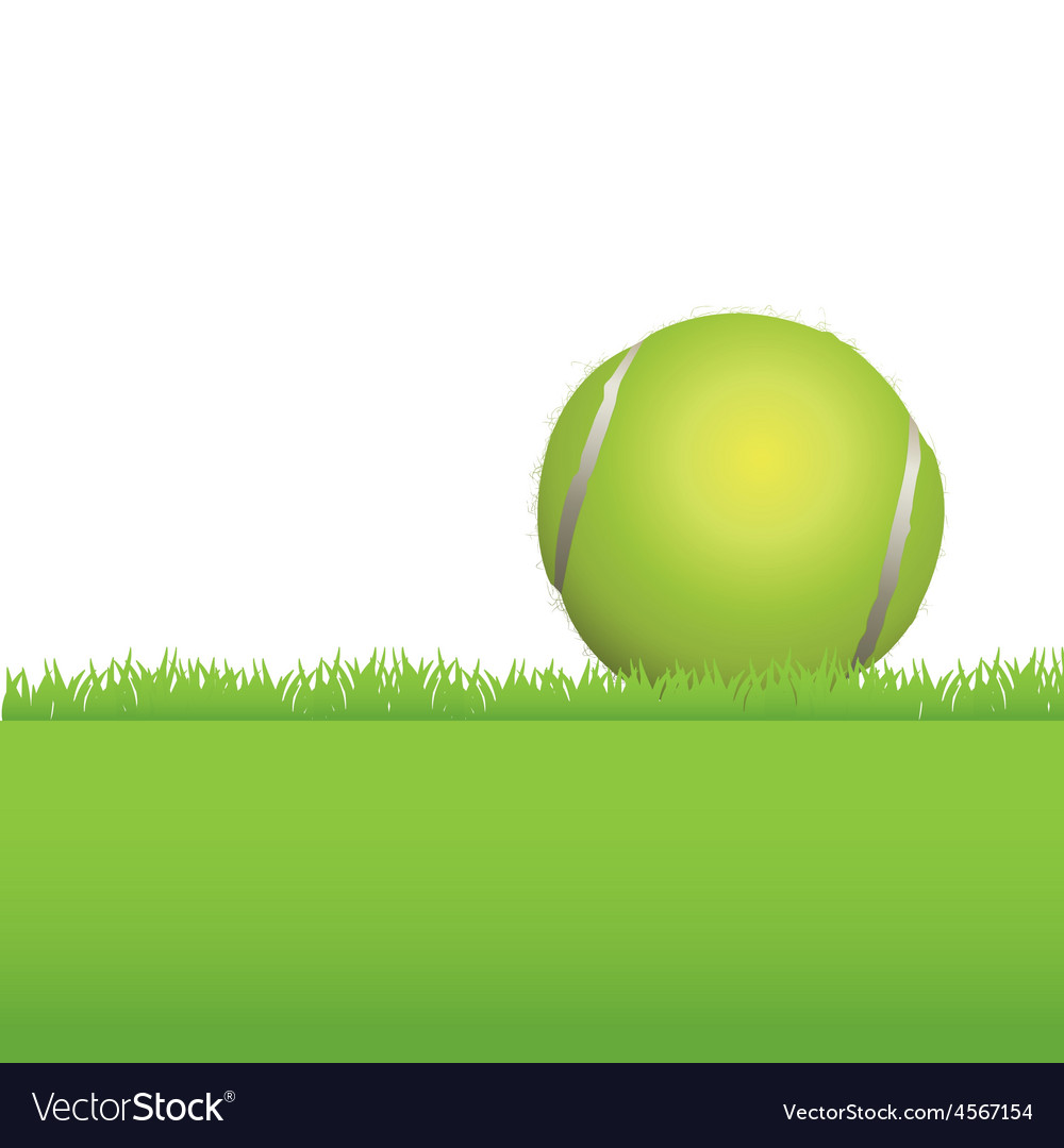 Tennis ball in the grass vector | Price: 1 Credit (USD $1)