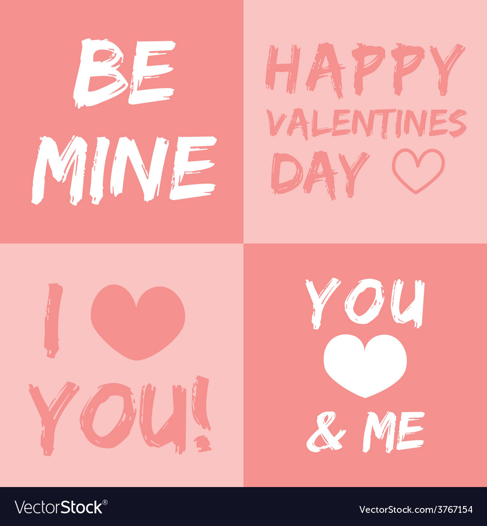 Valentines day and typography element vector | Price: 1 Credit (USD $1)