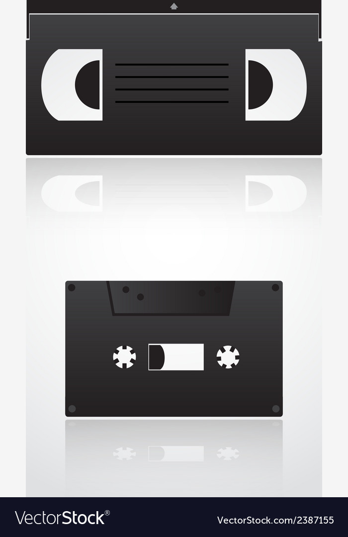 Audio and video cassette symbols eps10 vector | Price: 1 Credit (USD $1)