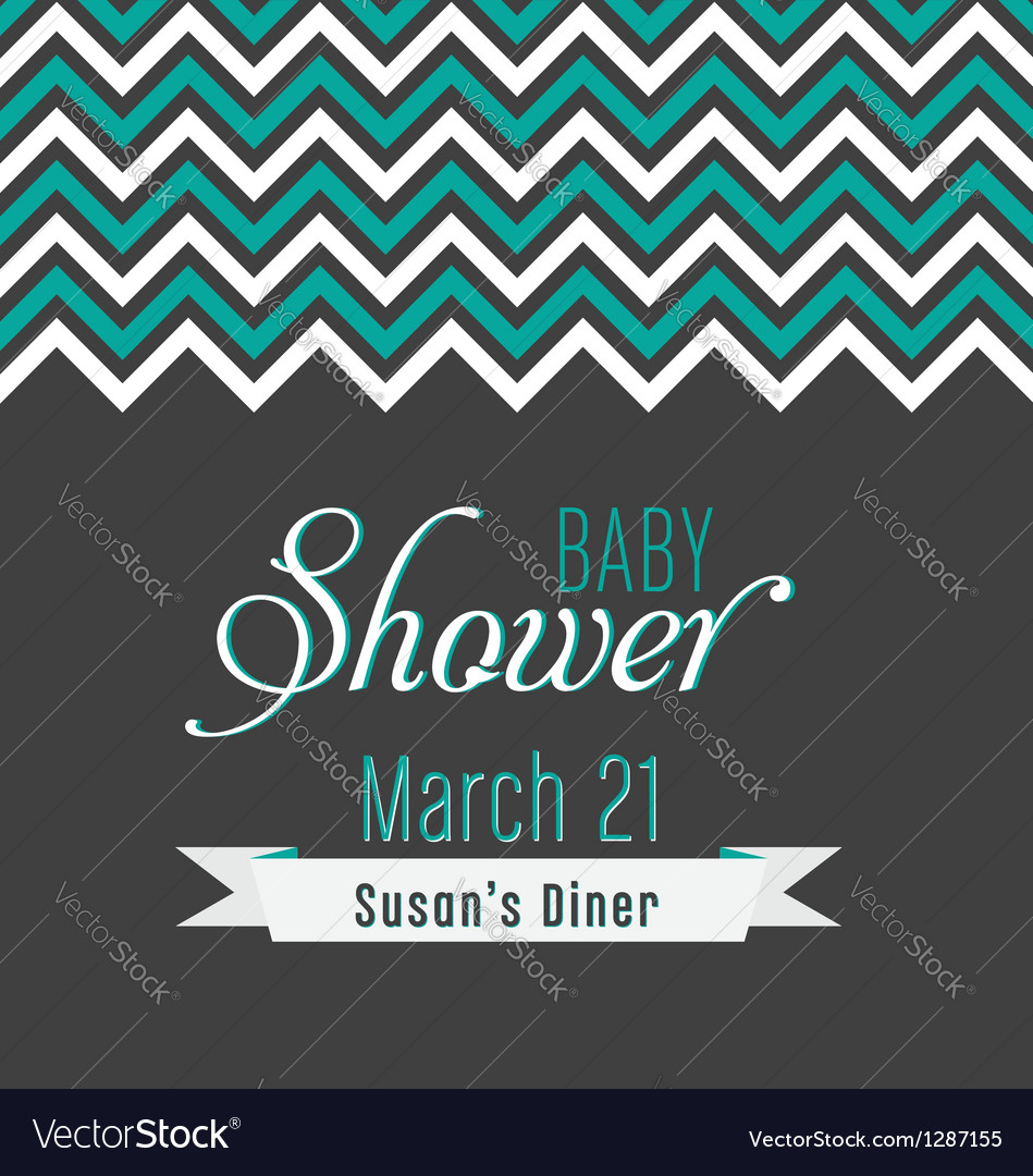 Baby shower template vector | Price: 1 Credit (USD $1)