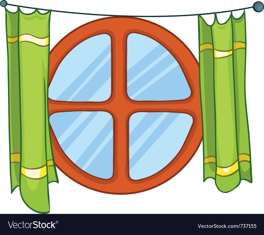 Cartoon home window vector | Price: 1 Credit (USD $1)