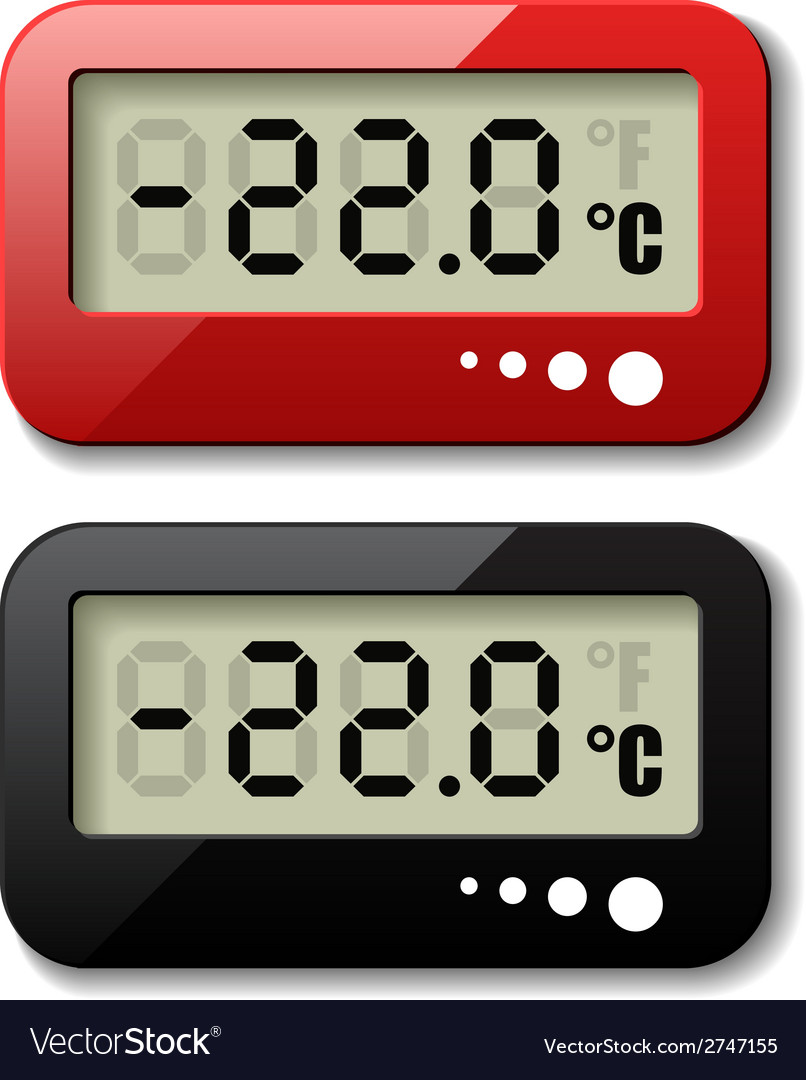 Digital thermometer icons vector | Price: 1 Credit (USD $1)