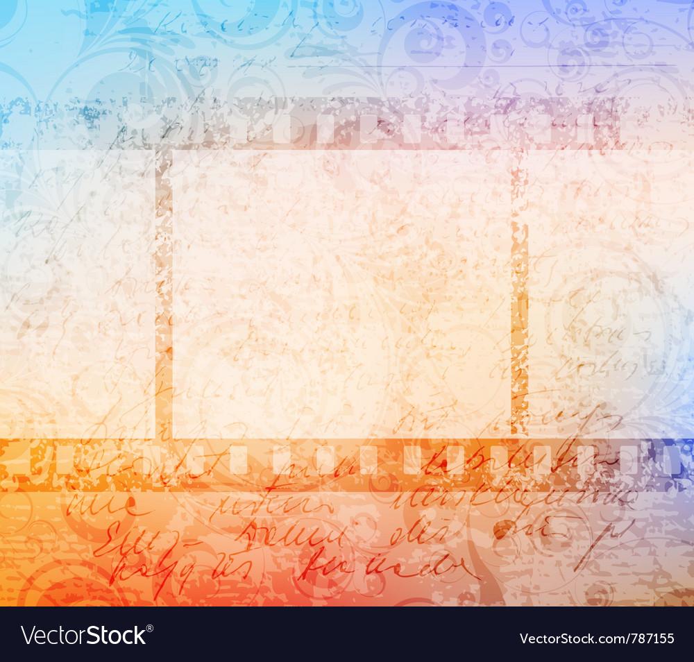 Grungy filmstrip vector | Price: 1 Credit (USD $1)