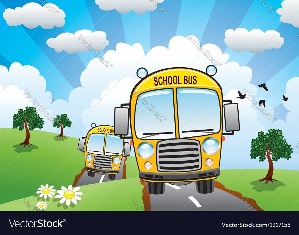 School buses vector | Price: 3 Credit (USD $3)