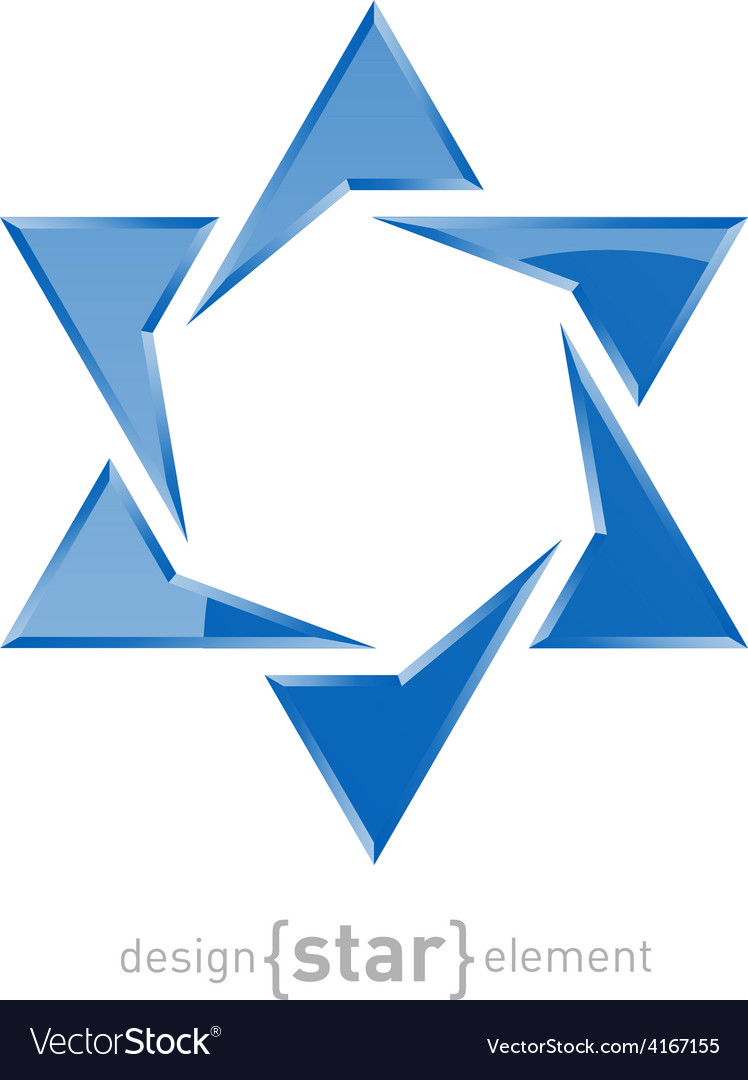 Star of david on white background vector | Price: 1 Credit (USD $1)