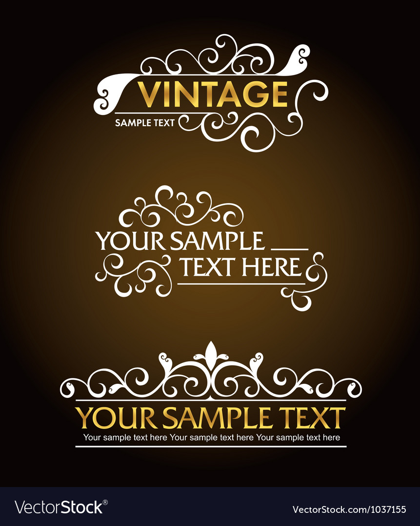 Vintage style signs vector | Price: 1 Credit (USD $1)