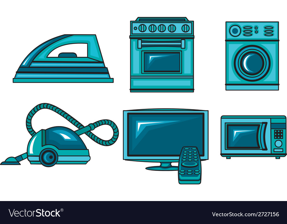 Icons of appliances vector | Price: 1 Credit (USD $1)