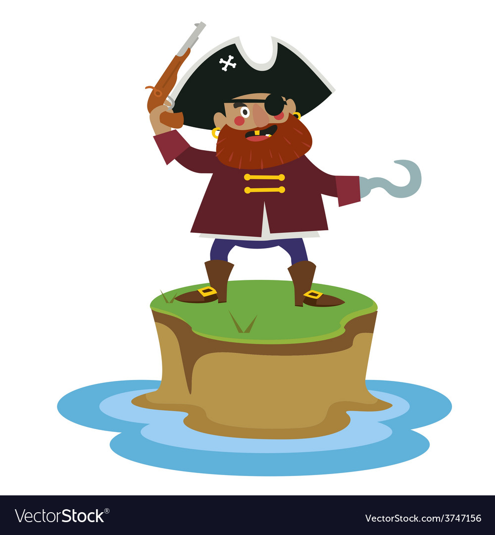 Island with pirate vector | Price: 1 Credit (USD $1)