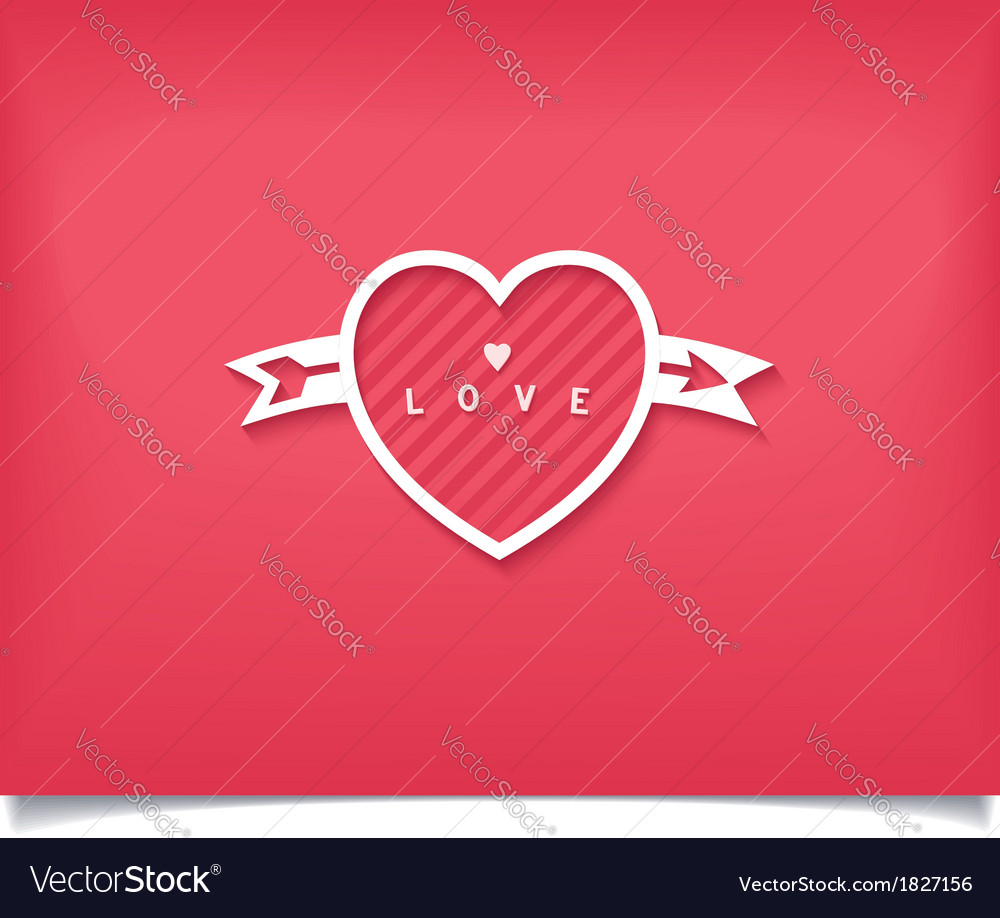 Just creative heart with love lettering vector | Price: 1 Credit (USD $1)