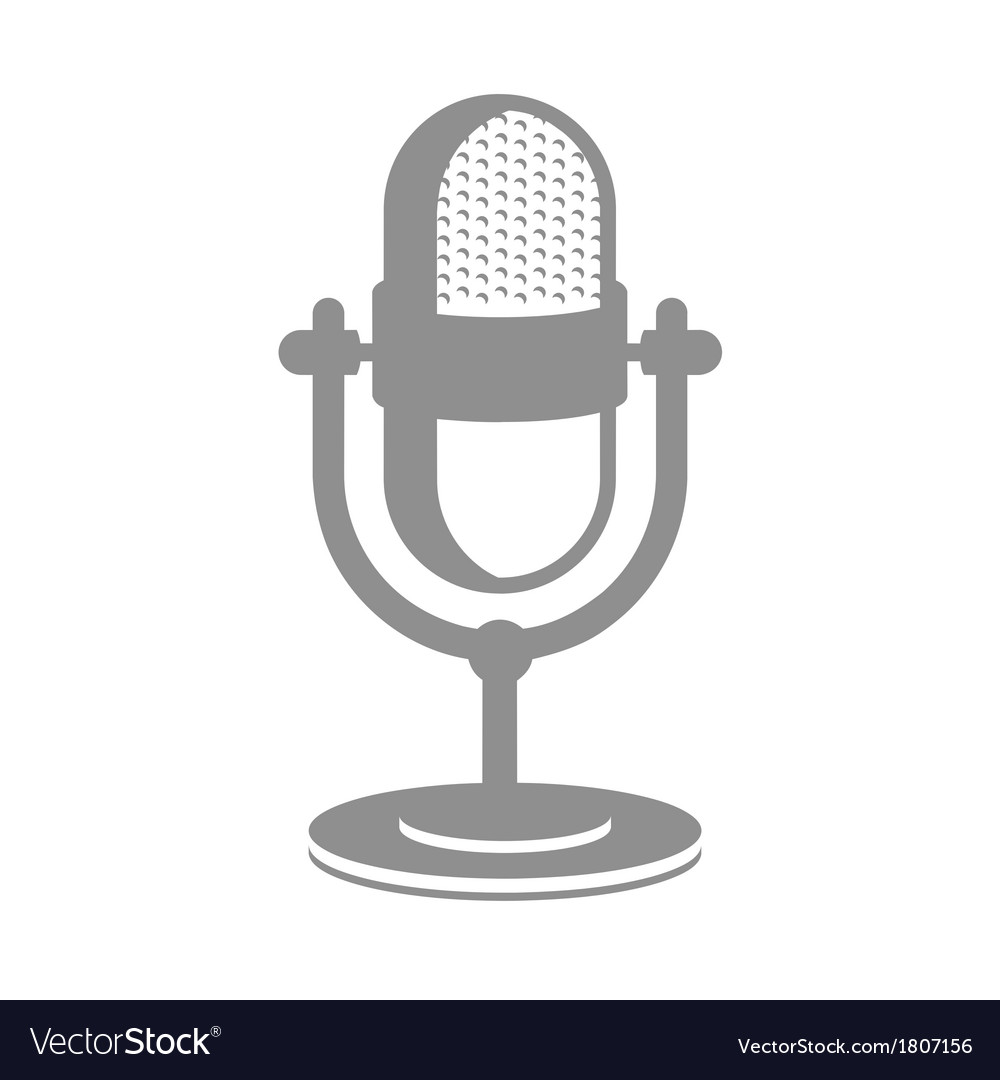 Retro microphone icon vector | Price: 1 Credit (USD $1)