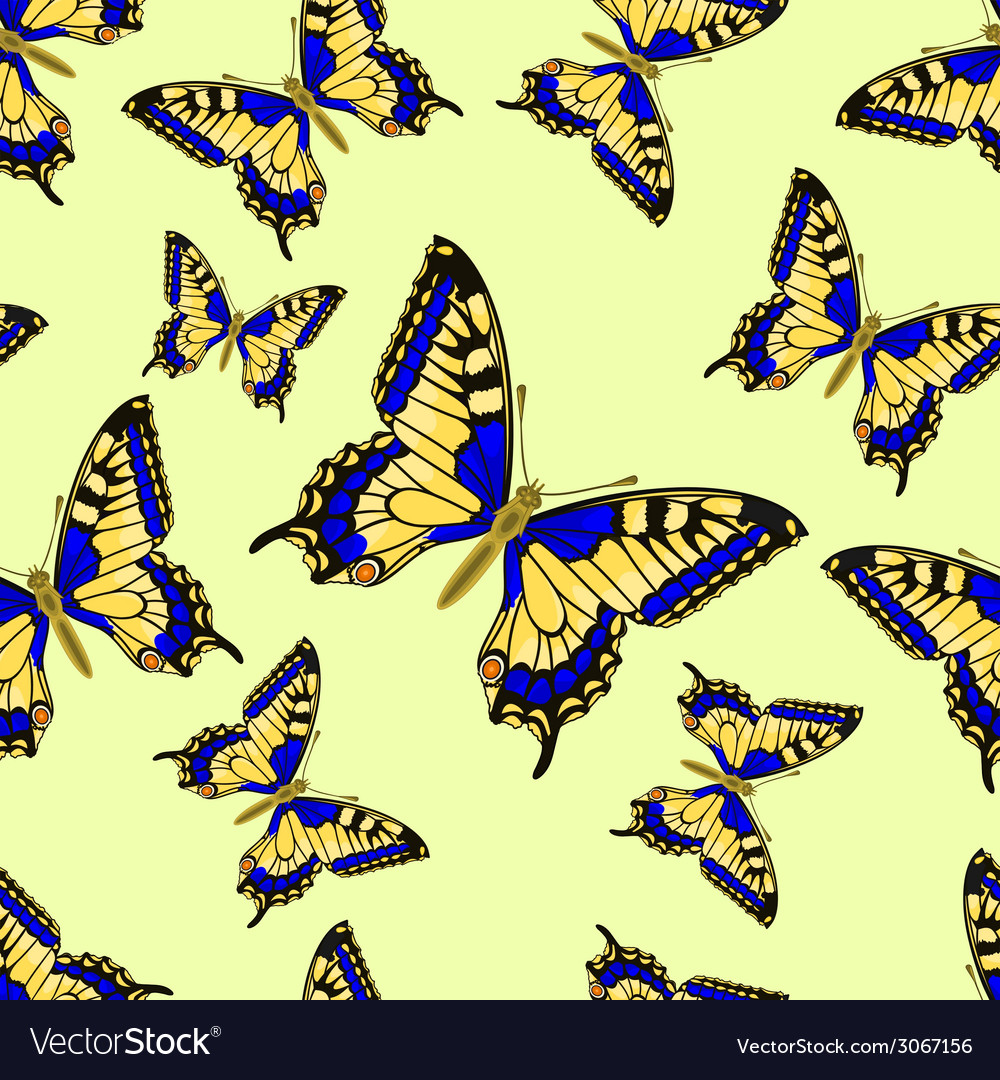 Seamless texture flight butterfly inachis io vector | Price: 1 Credit (USD $1)