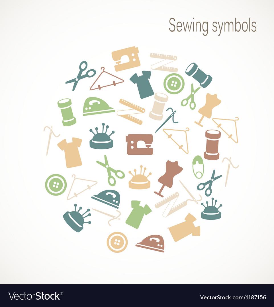 Sewing symbols vector | Price: 1 Credit (USD $1)