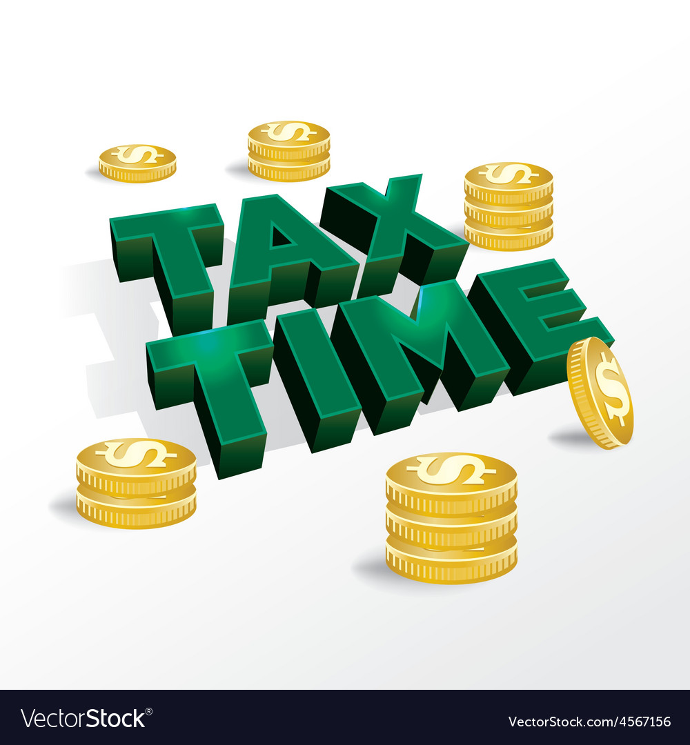 Tax time income tax concept vector | Price: 1 Credit (USD $1)