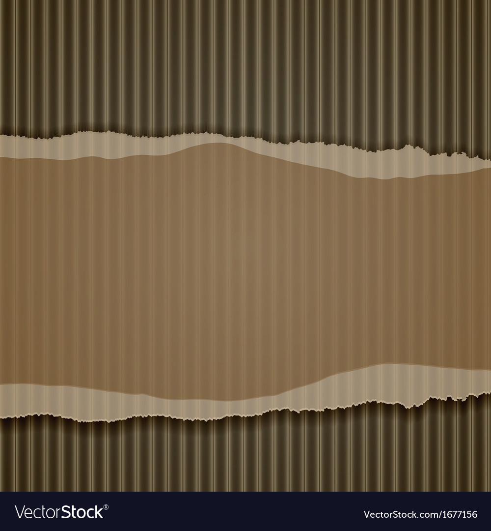 Torn corrugated cardboard border vector | Price: 1 Credit (USD $1)