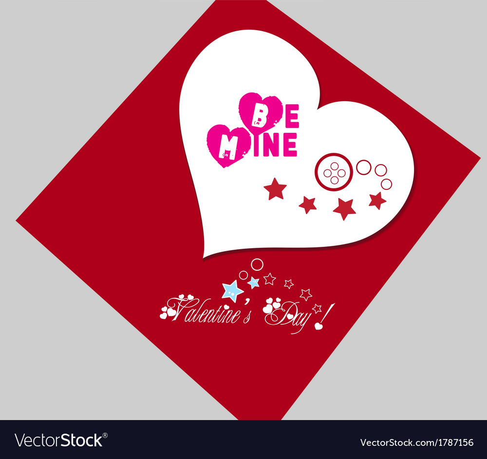 Valentine gift red heart vector | Price: 1 Credit (USD $1)