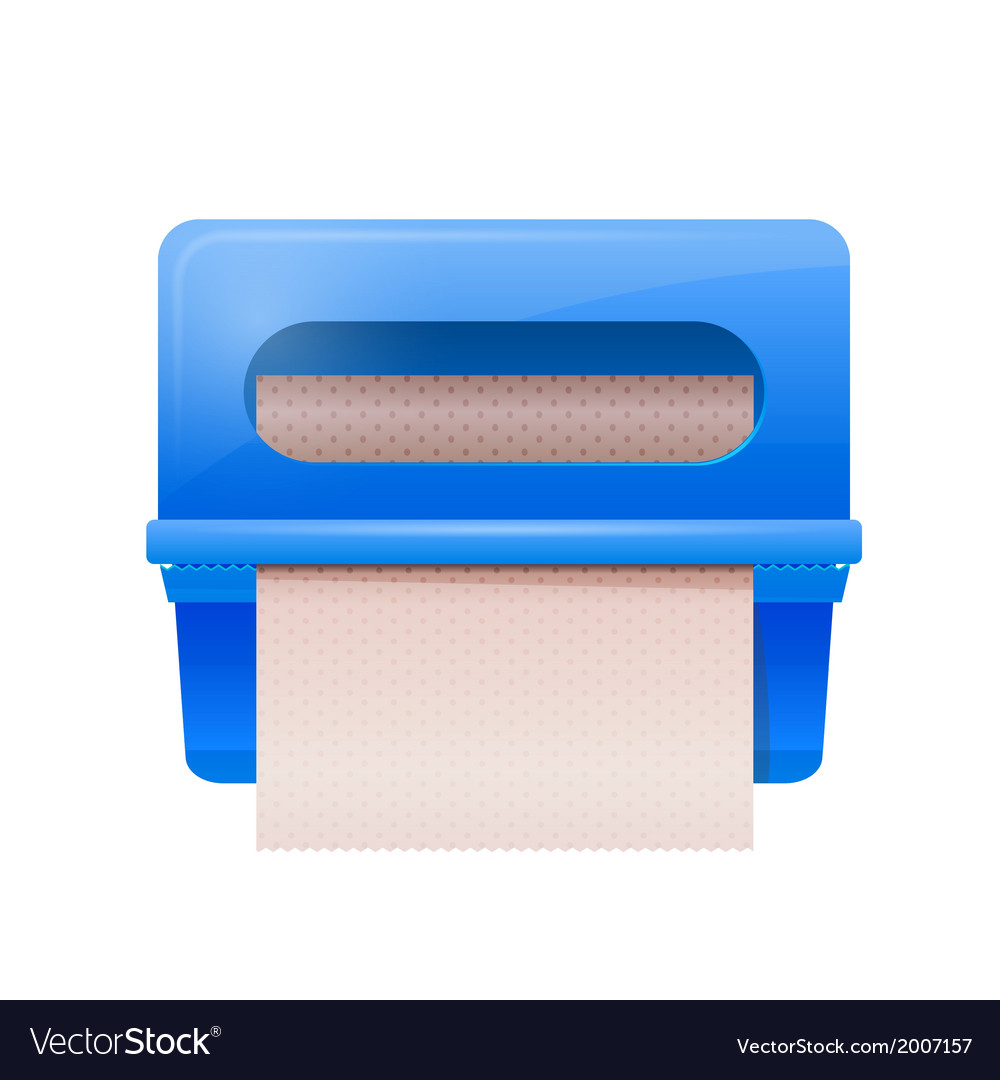 Blue bathroom wall mounted paper dispenser vector | Price: 1 Credit (USD $1)