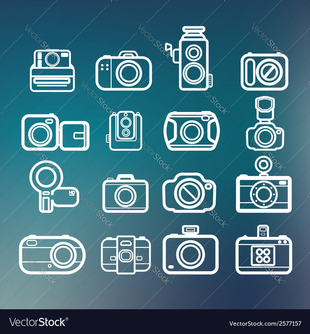 Camera icons of abstract blur backgrounds eps10 vector | Price: 1 Credit (USD $1)