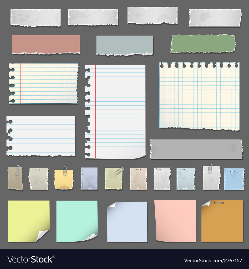 Collection of various notes paper vector | Price: 1 Credit (USD $1)