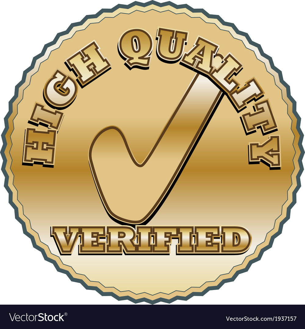 Golden quality seal vector | Price: 1 Credit (USD $1)
