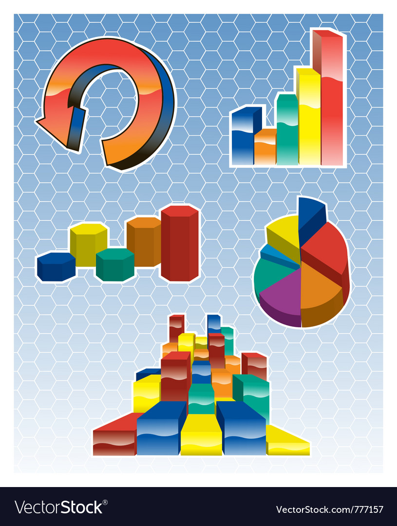 Graph icons vector | Price: 1 Credit (USD $1)
