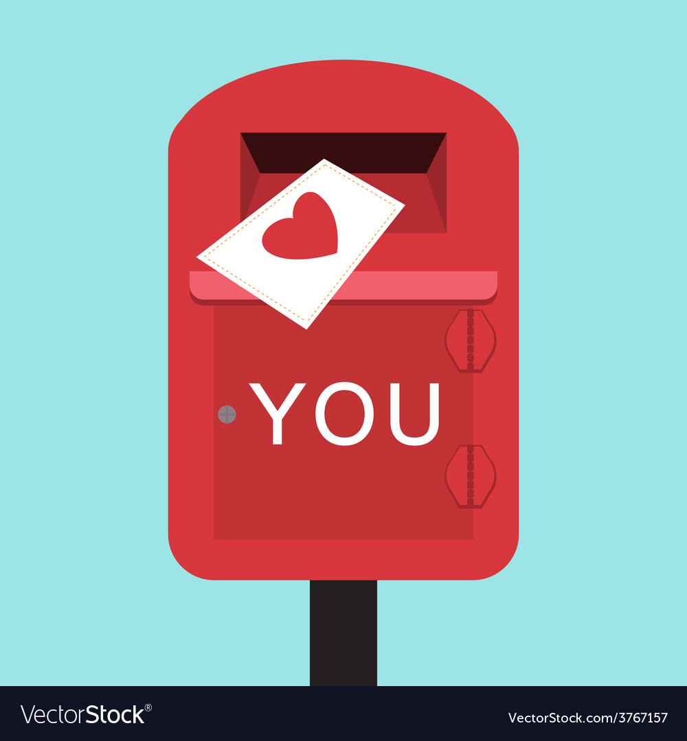 Happy valentines letter to you vector | Price: 1 Credit (USD $1)