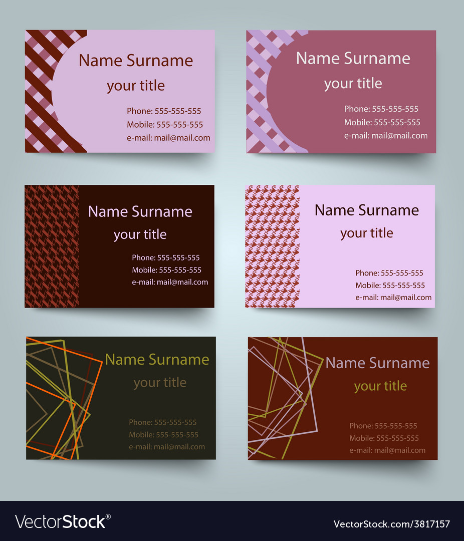 Modern simple light business card template vector | Price: 1 Credit (USD $1)