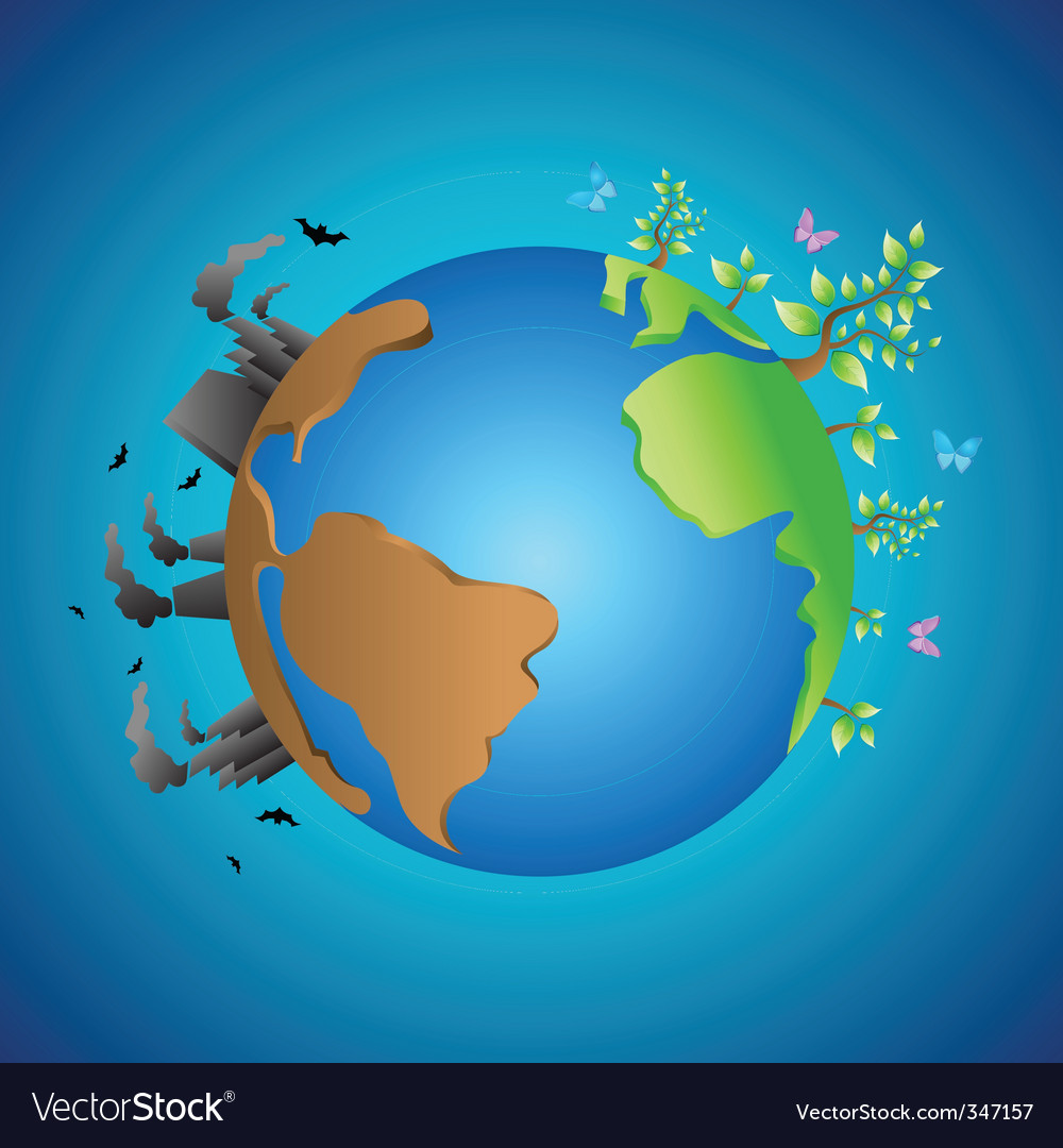 Smoke and nature in earth vector   Price: 1 Credit (USD $1)