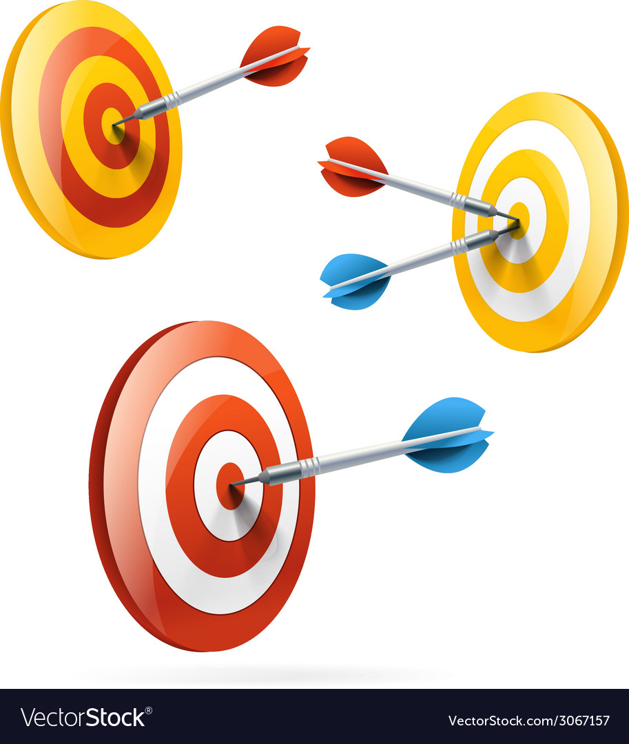 Targets set isolated on white vector   Price: 1 Credit (USD $1)