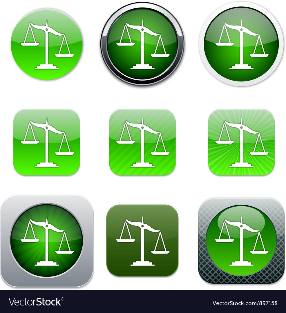 Balance green app icons vector | Price: 1 Credit (USD $1)