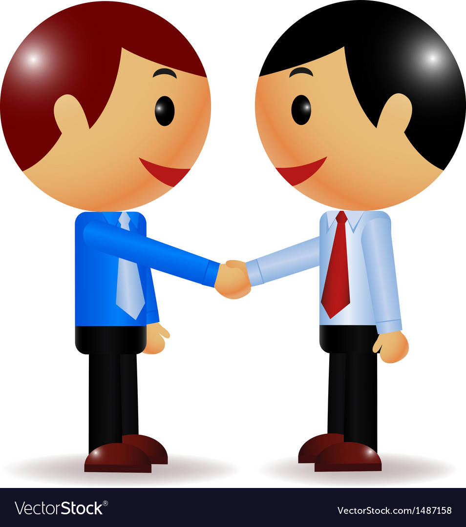Businessman shake hand vector | Price: 1 Credit (USD $1)