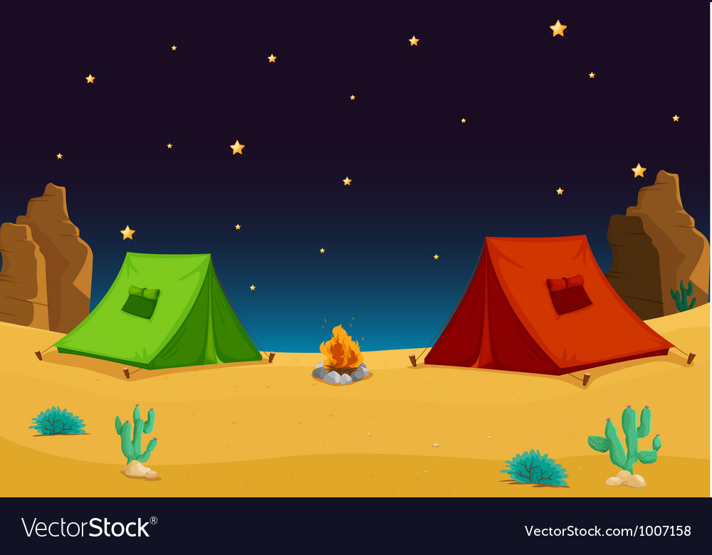 Camping in the desert vector   Price: 3 Credit (USD $3)
