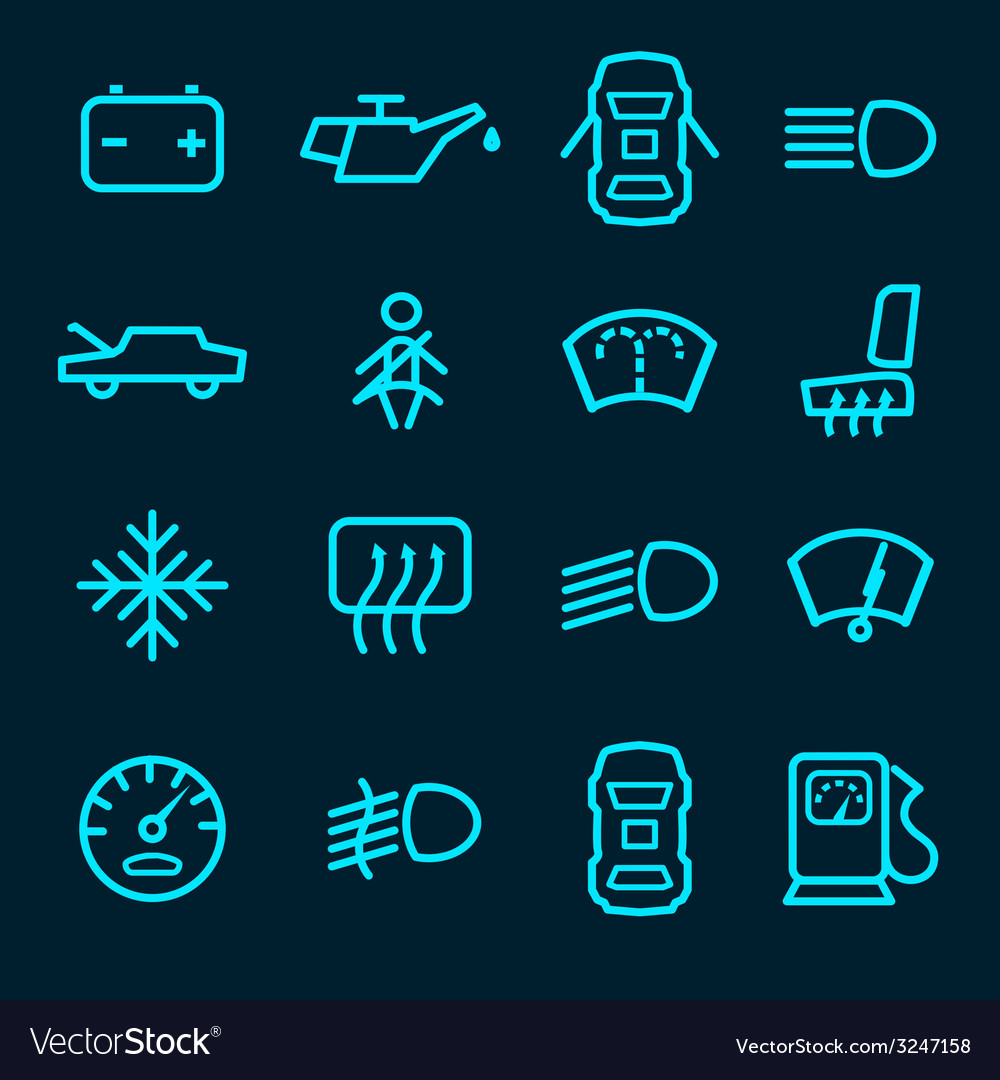 Car dashboard icons vector | Price: 1 Credit (USD $1)