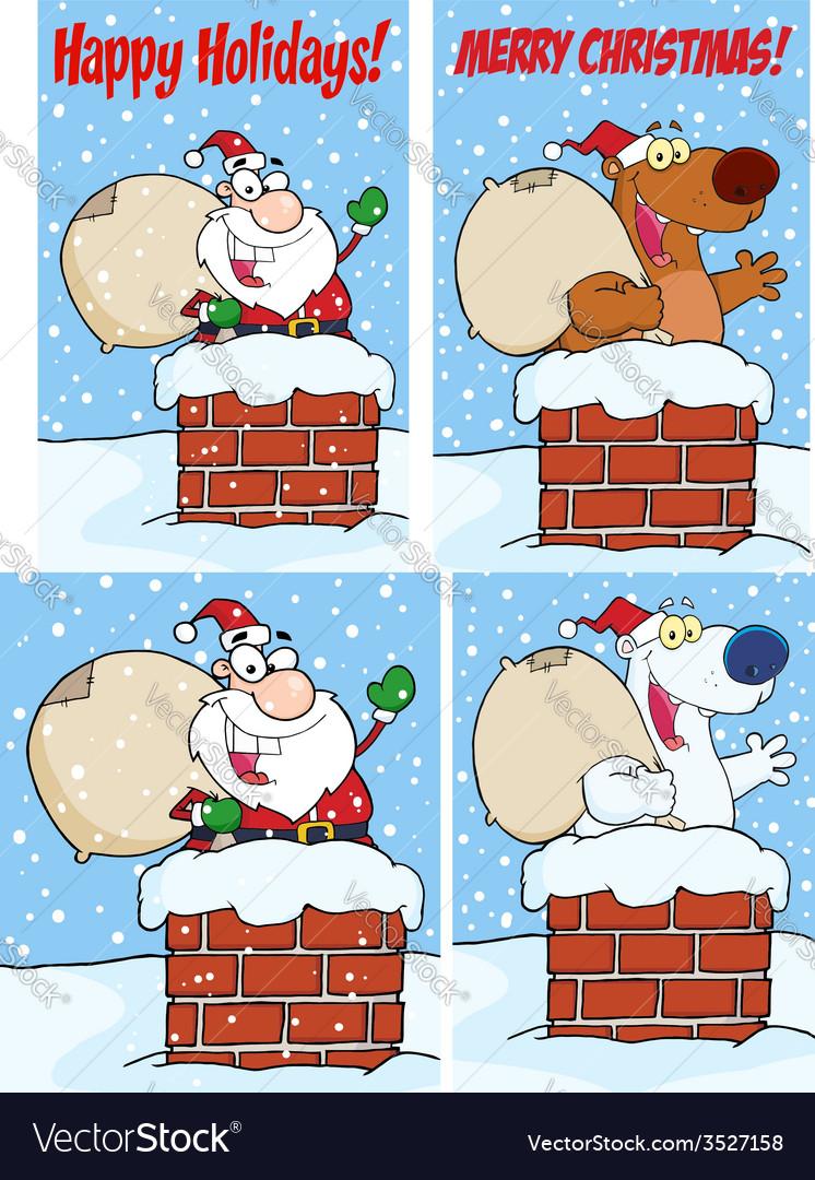 Cartoon santa design vector | Price: 1 Credit (USD $1)