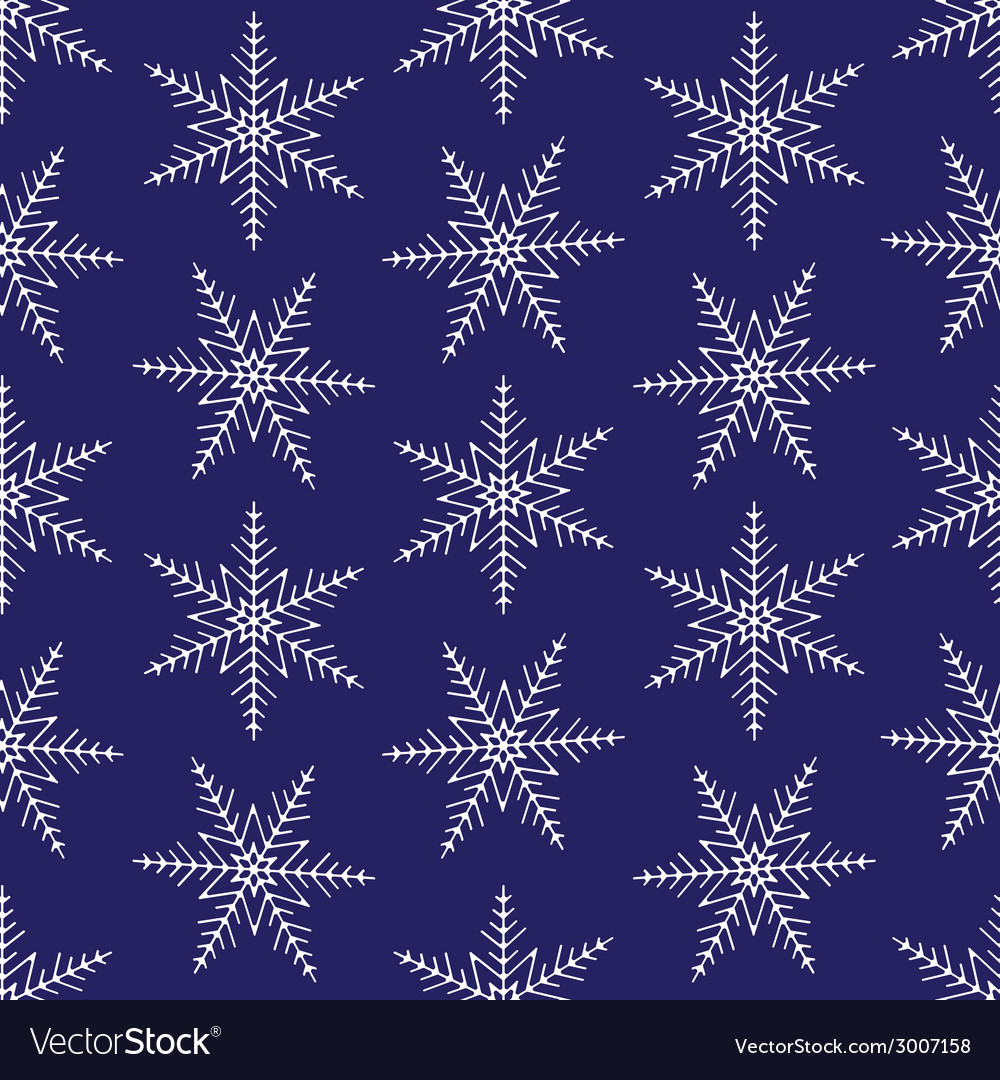 Christmas snowflakes seamless background vector | Price: 1 Credit (USD $1)