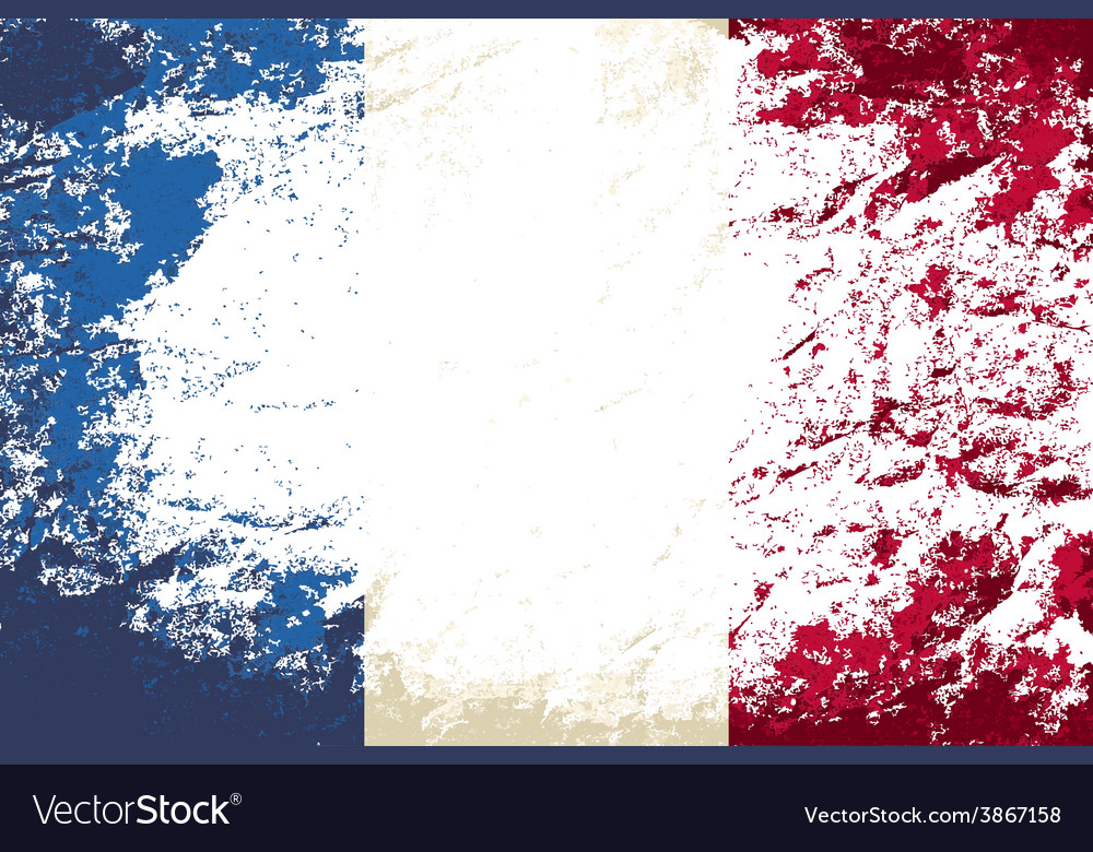 French flag grunge background vector | Price: 1 Credit (USD $1)