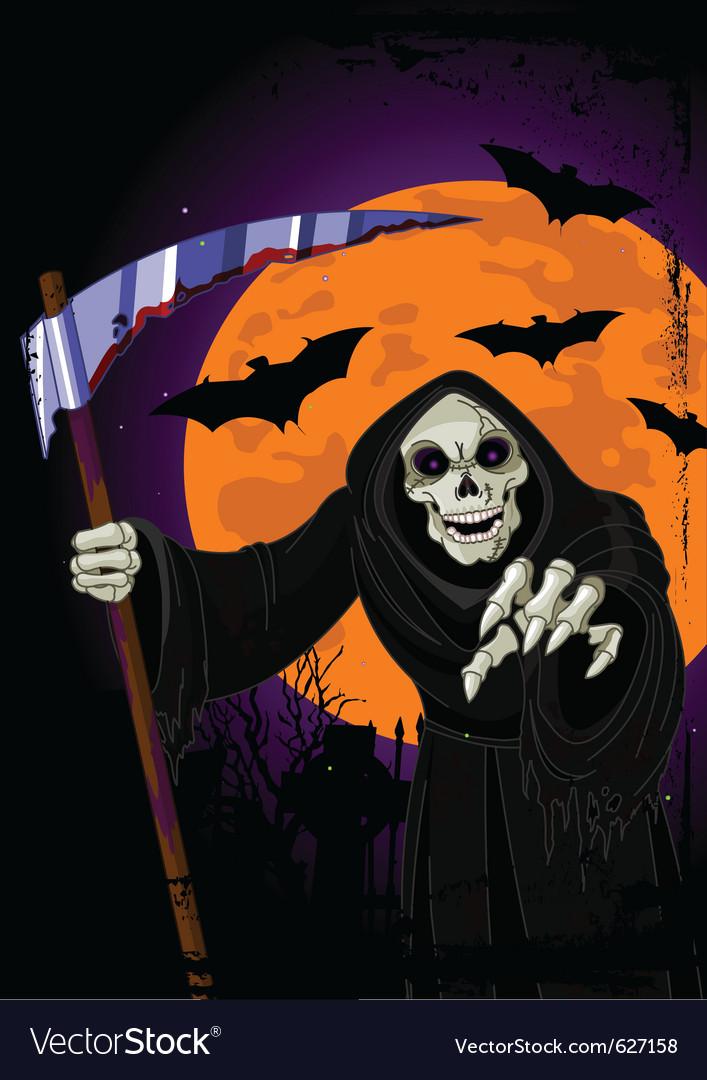 Halloween grim reaper vector | Price: 3 Credit (USD $3)