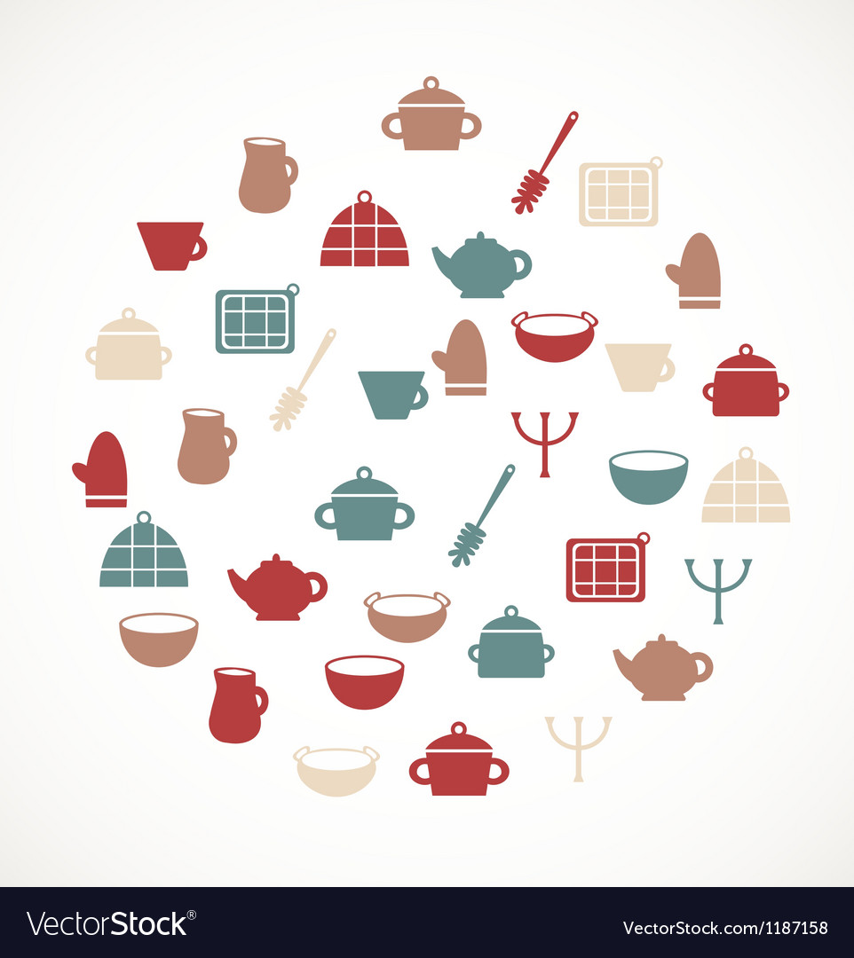 Kitchen symbols vector | Price: 1 Credit (USD $1)