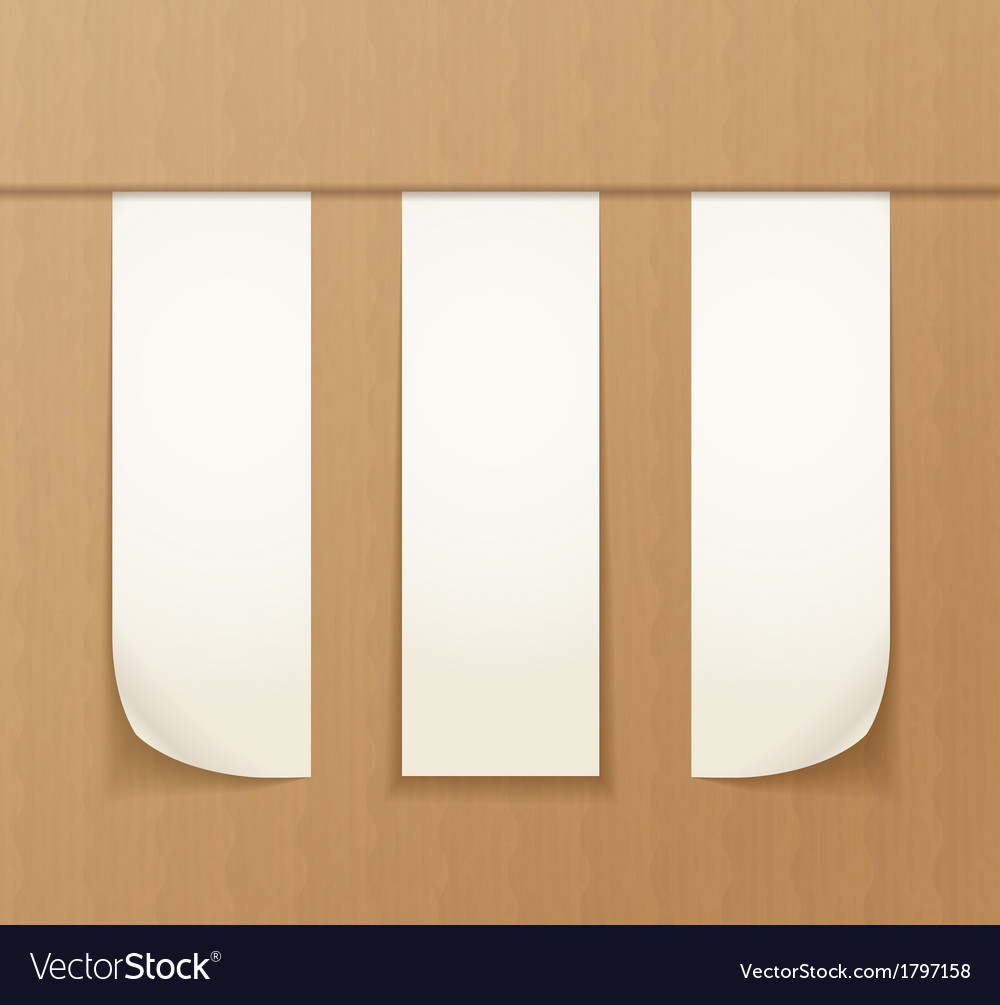 Paper banners on the cardboard background vector | Price: 1 Credit (USD $1)