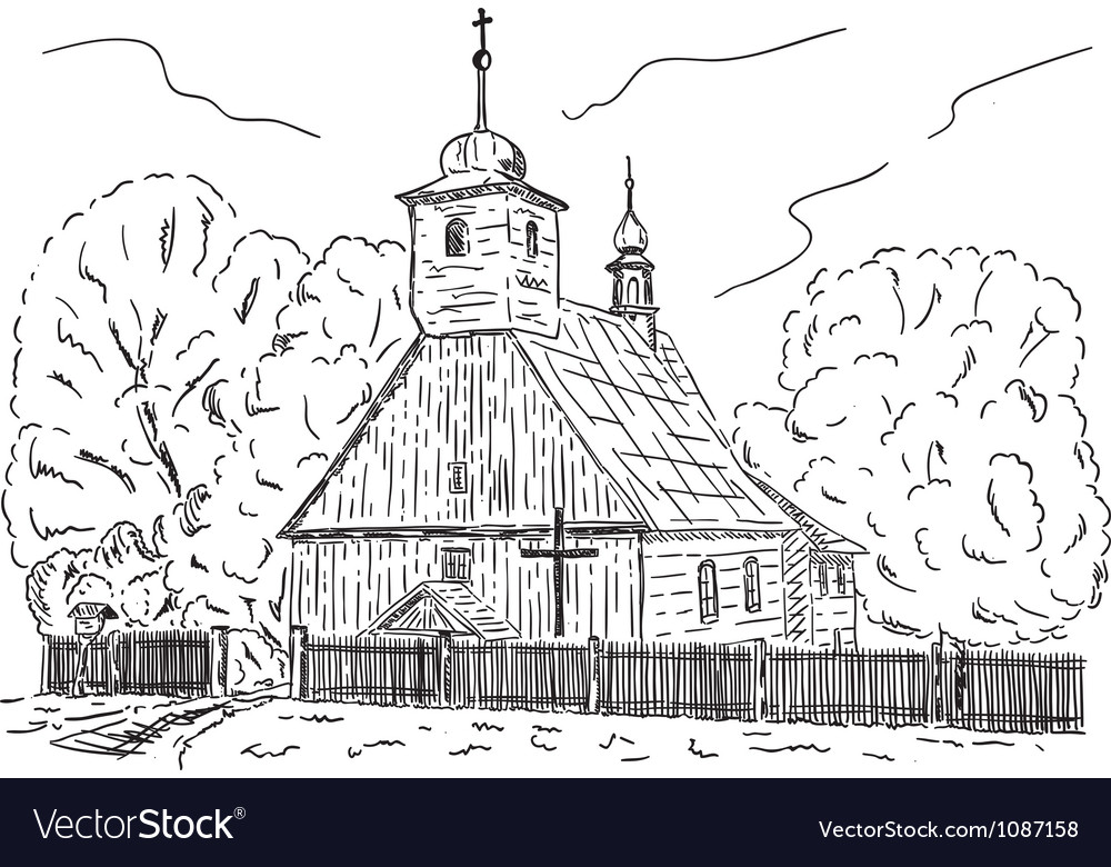 Rural chapel vector | Price: 1 Credit (USD $1)