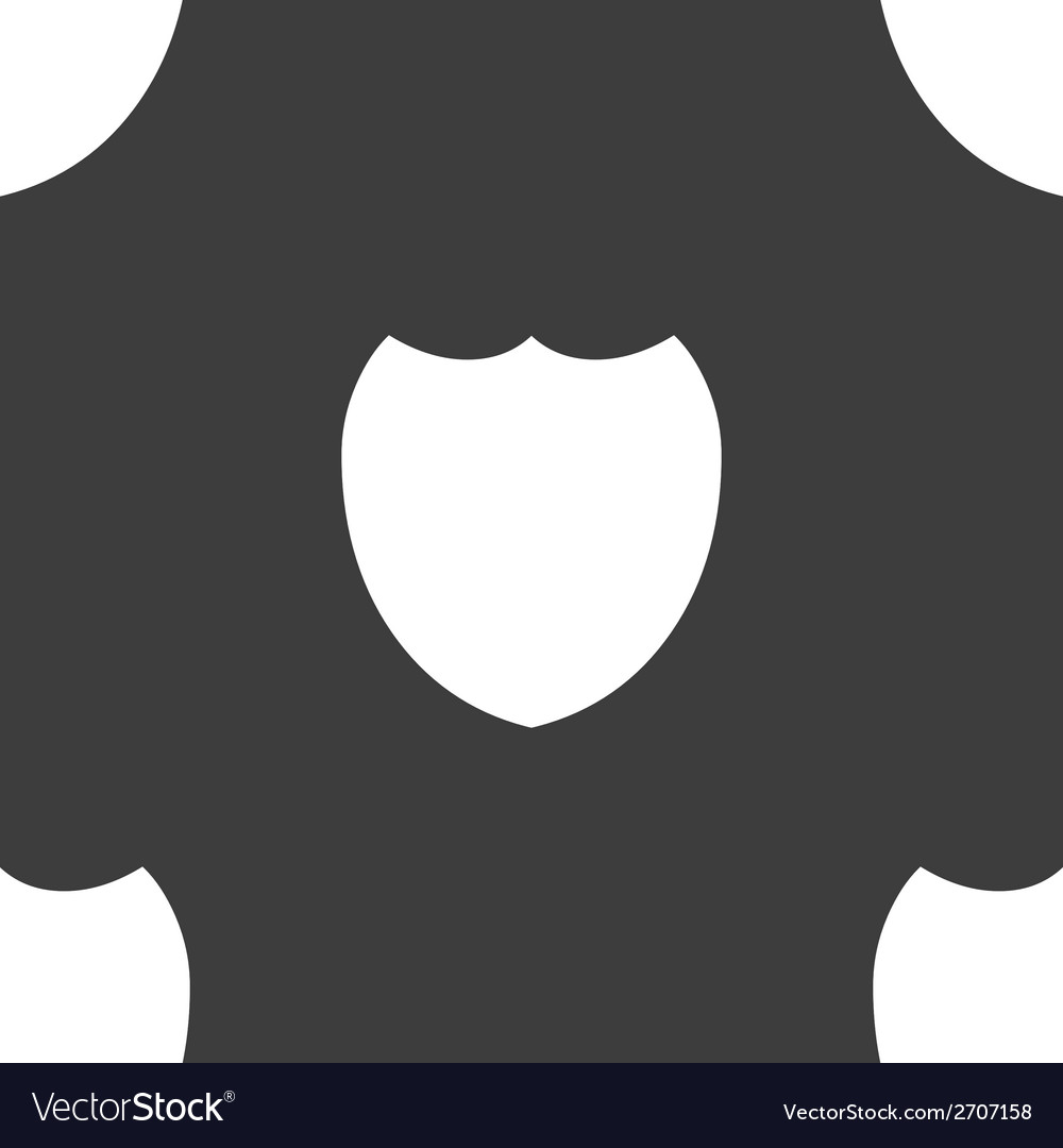 Shield protection web icon flat design seamless vector | Price: 1 Credit (USD $1)