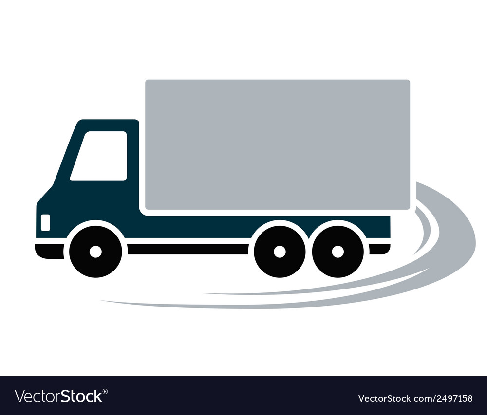 Sign with shipping truck vector | Price: 1 Credit (USD $1)