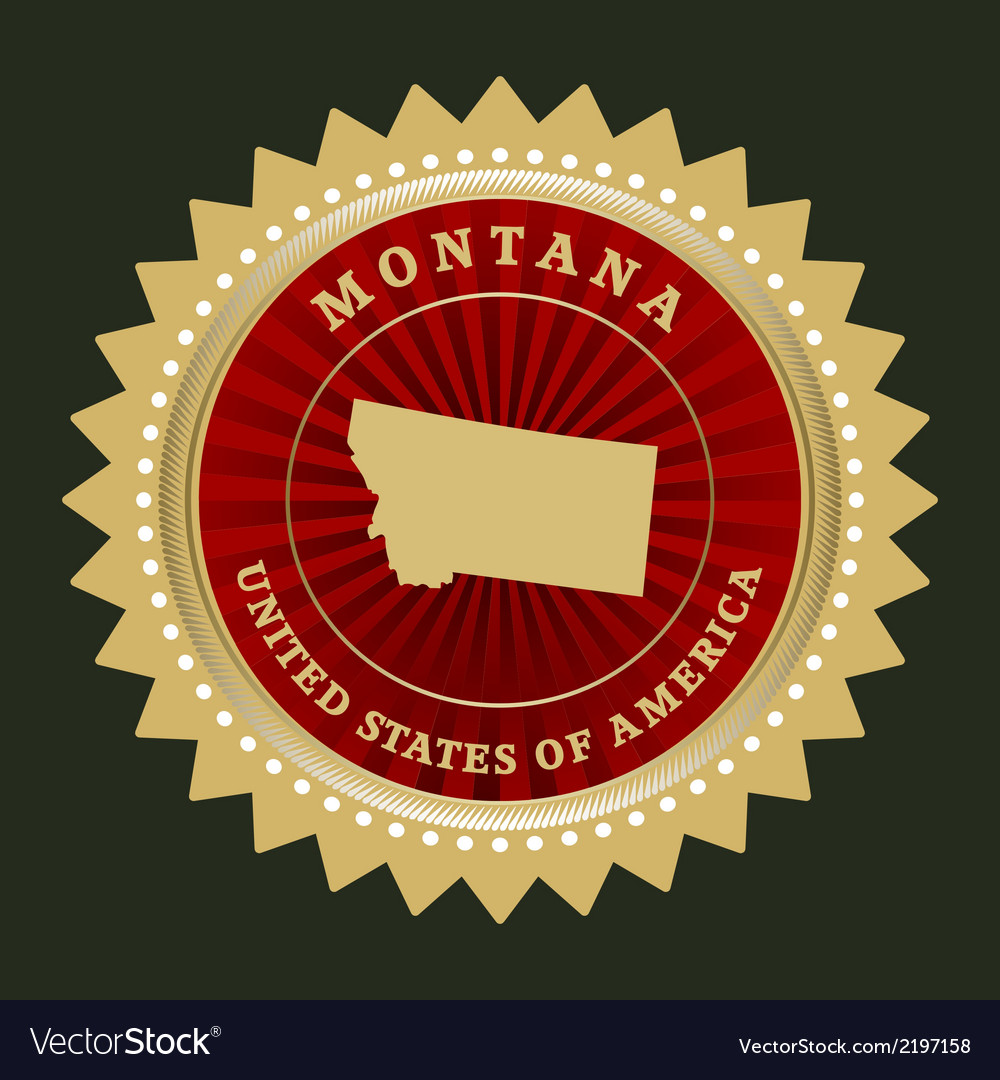 Star label montana vector | Price: 1 Credit (USD $1)