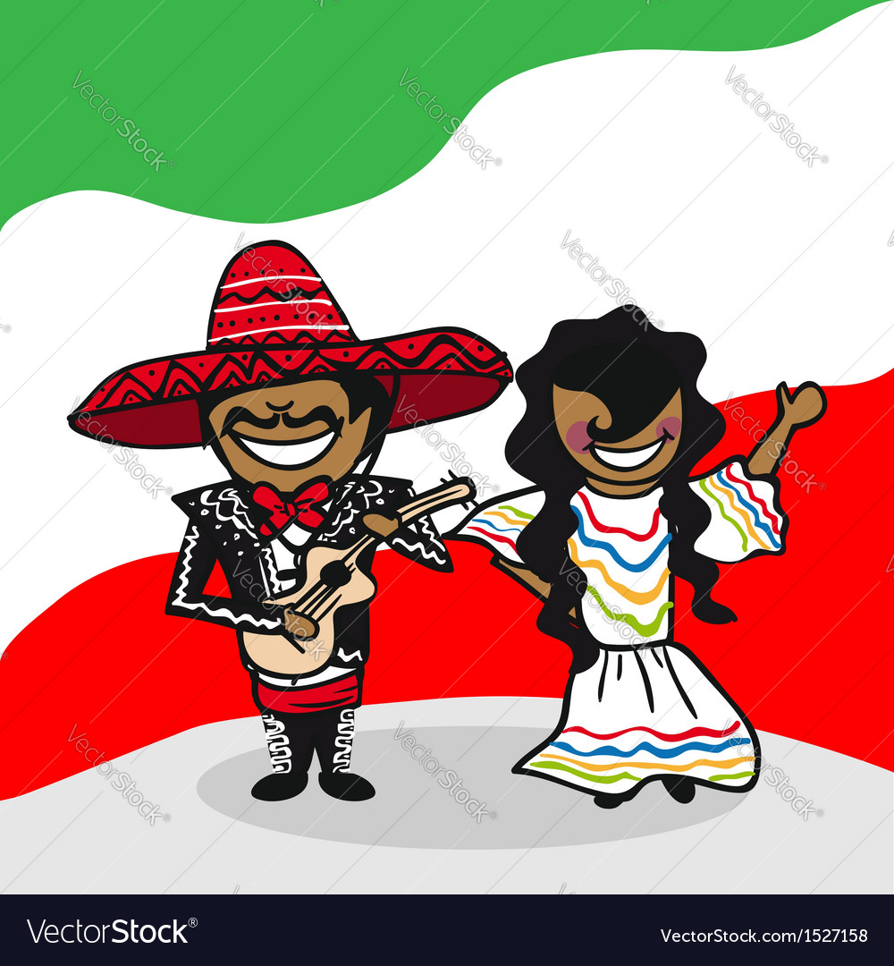 Welcome to mexico people vector | Price: 1 Credit (USD $1)