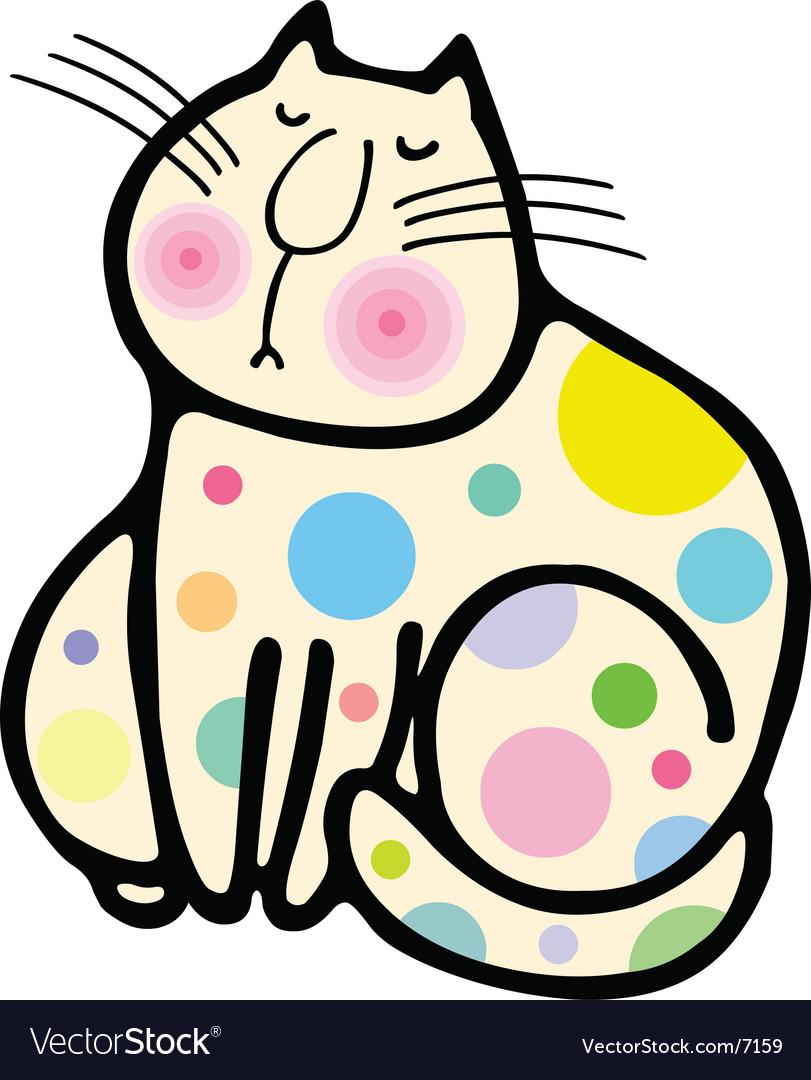 A cute cat cartoon illustration vector | Price: 1 Credit (USD $1)